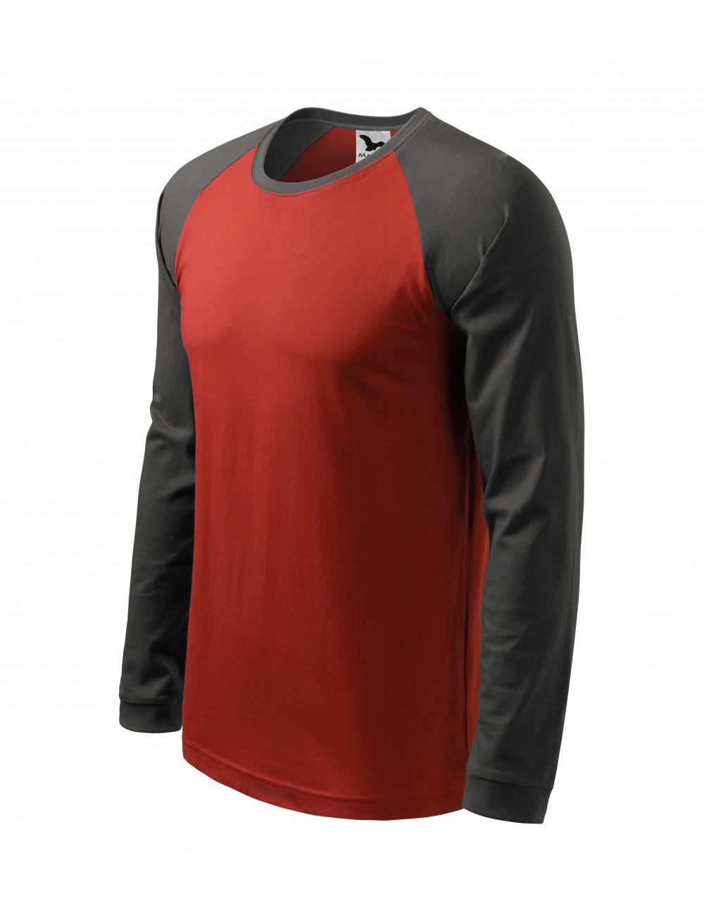 Adler MALFINI Koszulka męska Street LS 130 marlboro czerwony