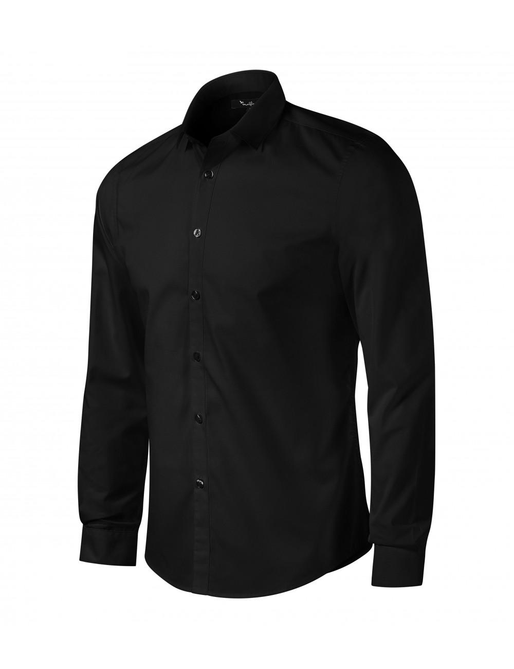 Adler MALFINIPREMIUM Koszula męska Dynamic 262 czarny