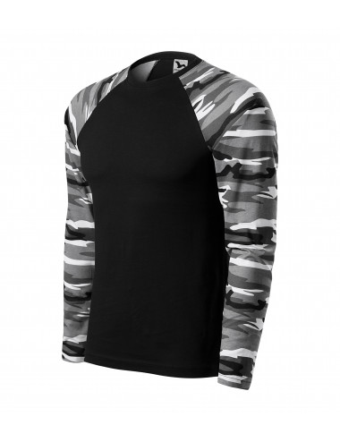 Adler MALFINI Koszulka unisex Camouflage LS 166 camouflage gray