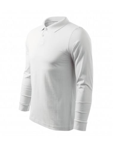 Adler MALFINI Koszulka polo męska Single J. LS 211 biały