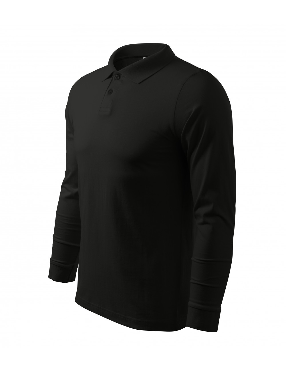 Adler MALFINI Koszulka polo męska Single J. LS 211 czarny