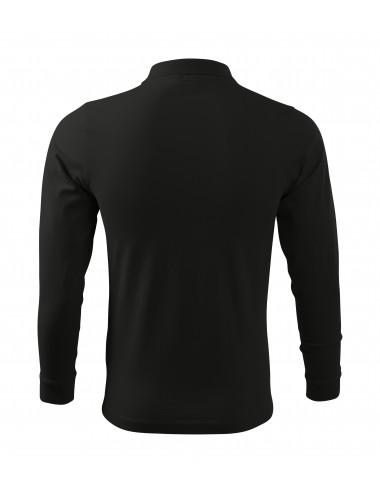 2Adler MALFINI Koszulka polo męska Single J. LS 211 czarny