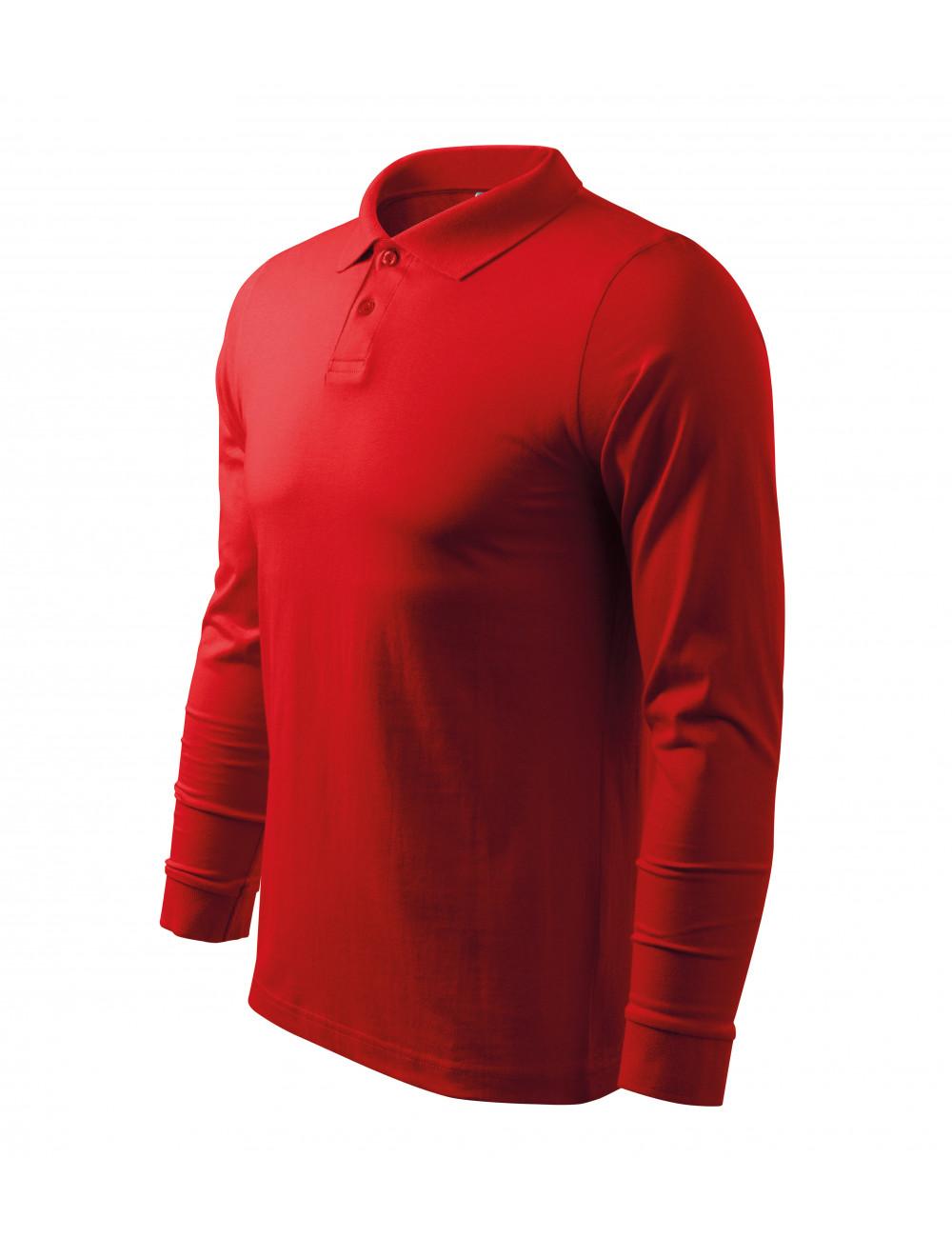 Adler MALFINI Koszulka polo męska Single J. LS 211 czerwony