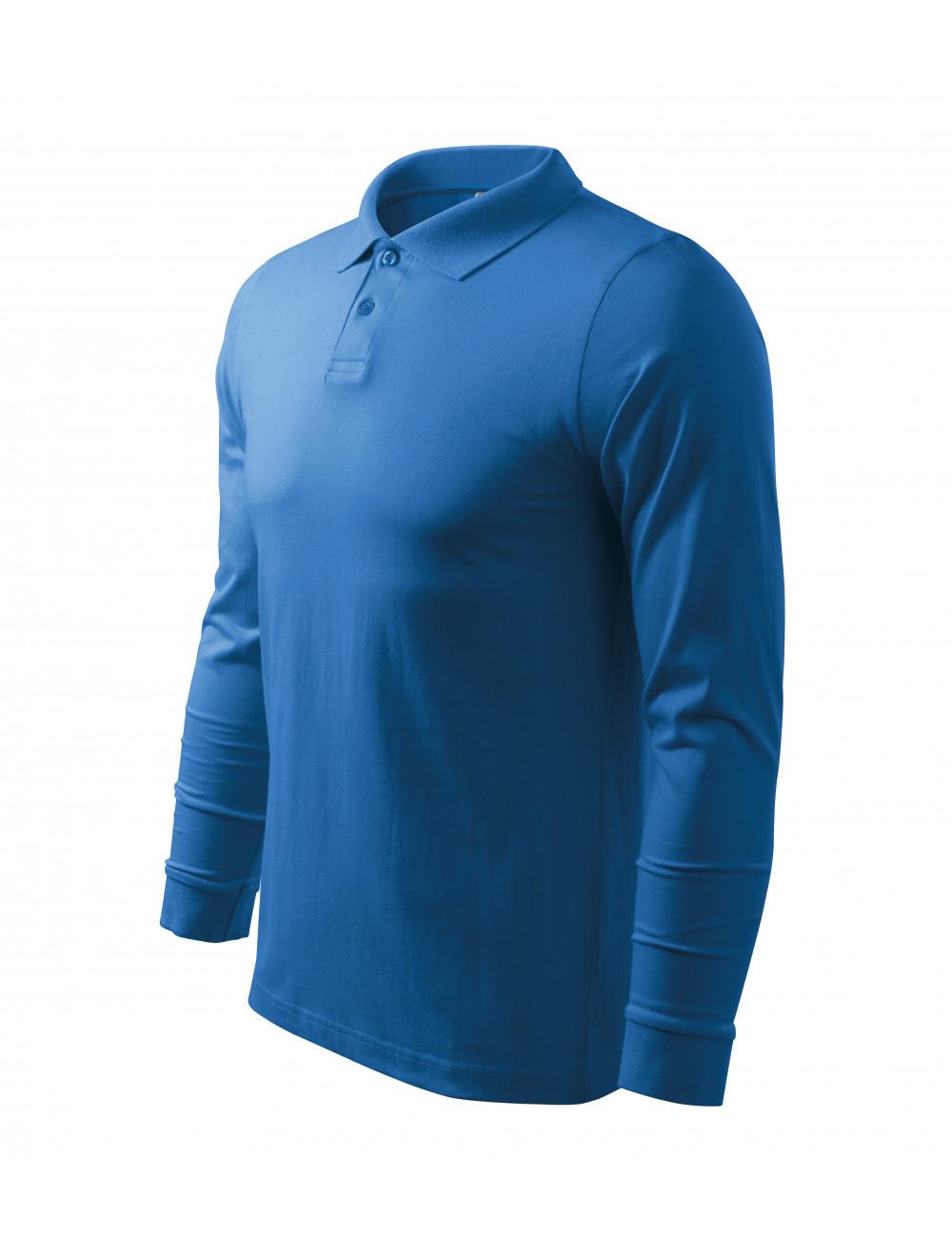 Adler MALFINI Koszulka polo męska Single J. LS 211 lazurowy