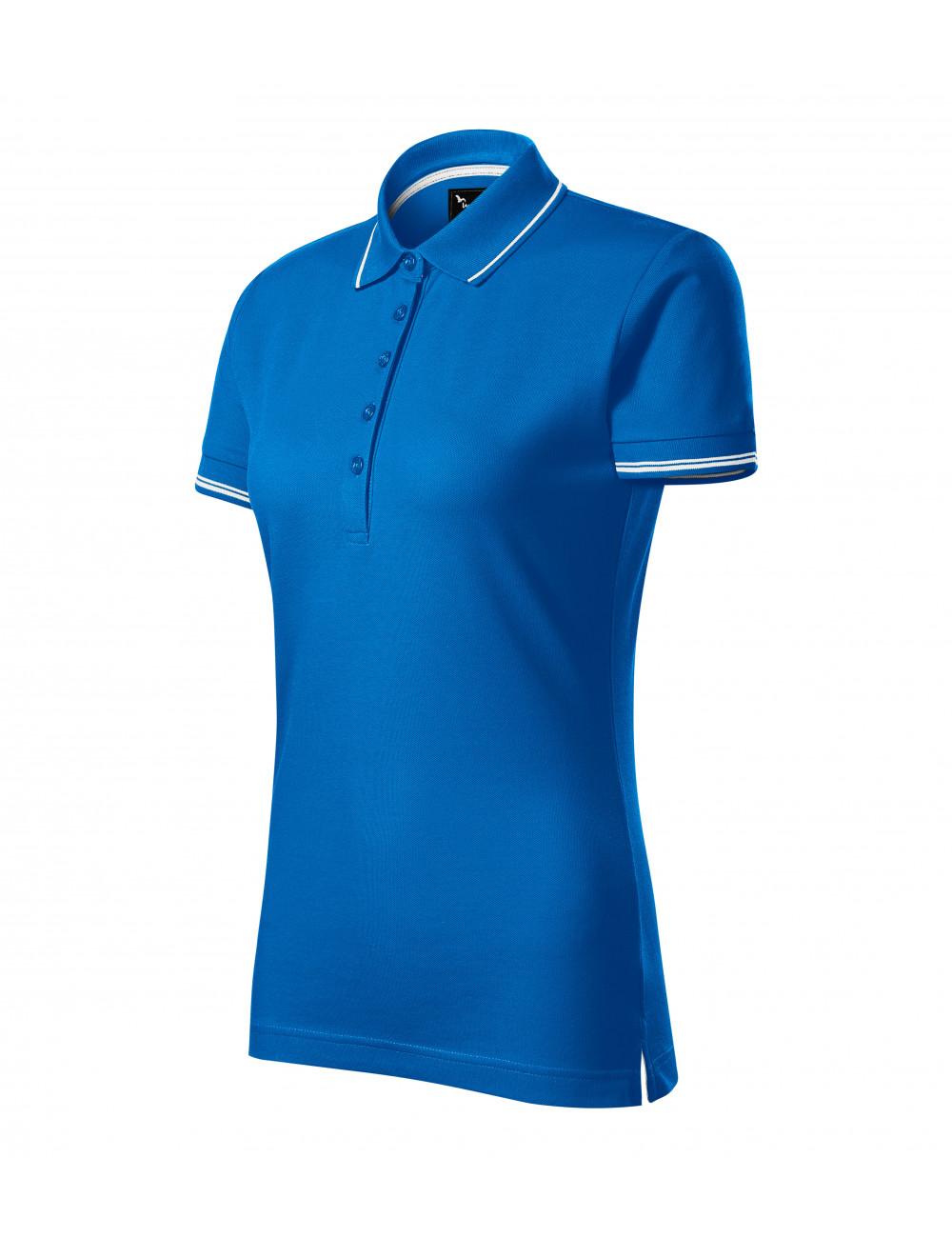 Adler MALFINIPREMIUM Koszulka polo damska Perfection plain 253 snorkel blue