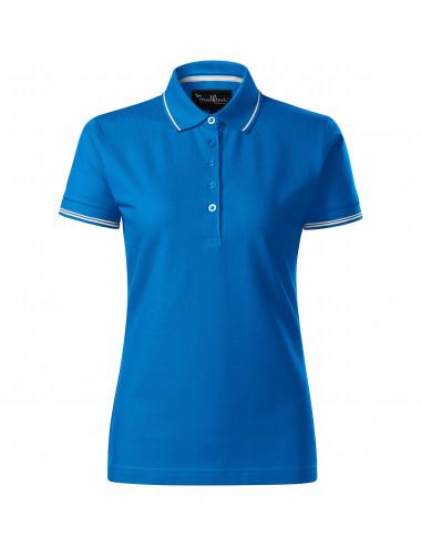 2Adler MALFINIPREMIUM Koszulka polo damska Perfection plain 253 snorkel blue