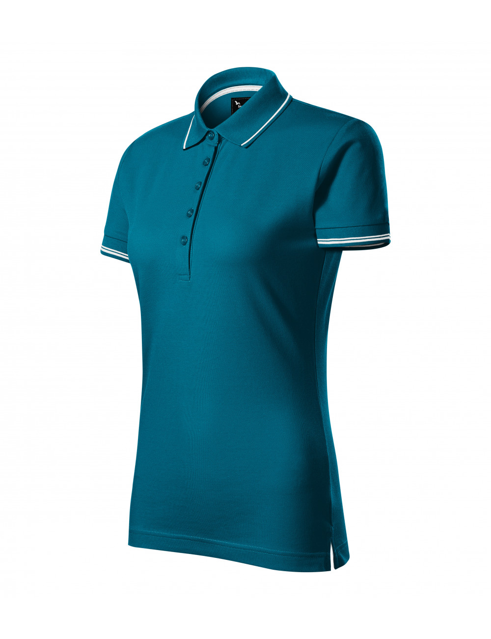 Adler MALFINIPREMIUM Koszulka polo damska Perfection plain 253 petrol blue