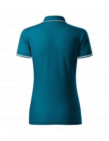 2Adler MALFINIPREMIUM Koszulka polo damska Perfection plain 253 petrol blue