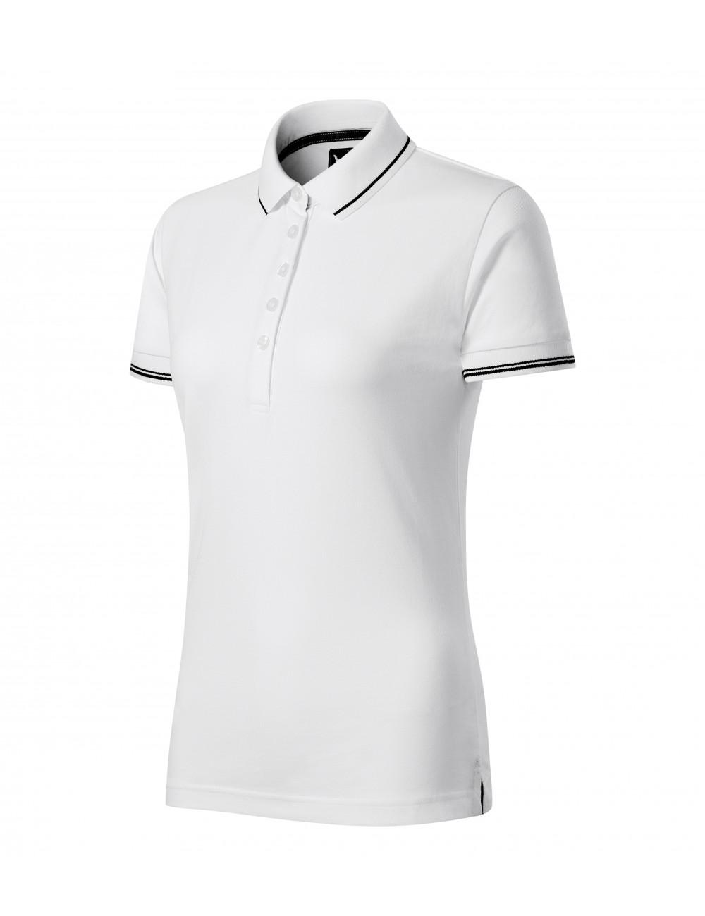 Adler MALFINIPREMIUM Koszulka polo damska Perfection plain 253 biały