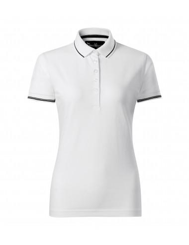 2Adler MALFINIPREMIUM Koszulka polo damska Perfection plain 253 biały