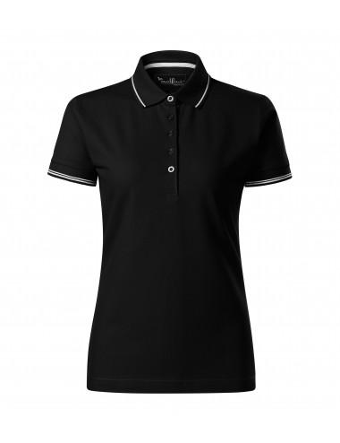 2Adler MALFINIPREMIUM Koszulka polo damska Perfection plain 253 czarny