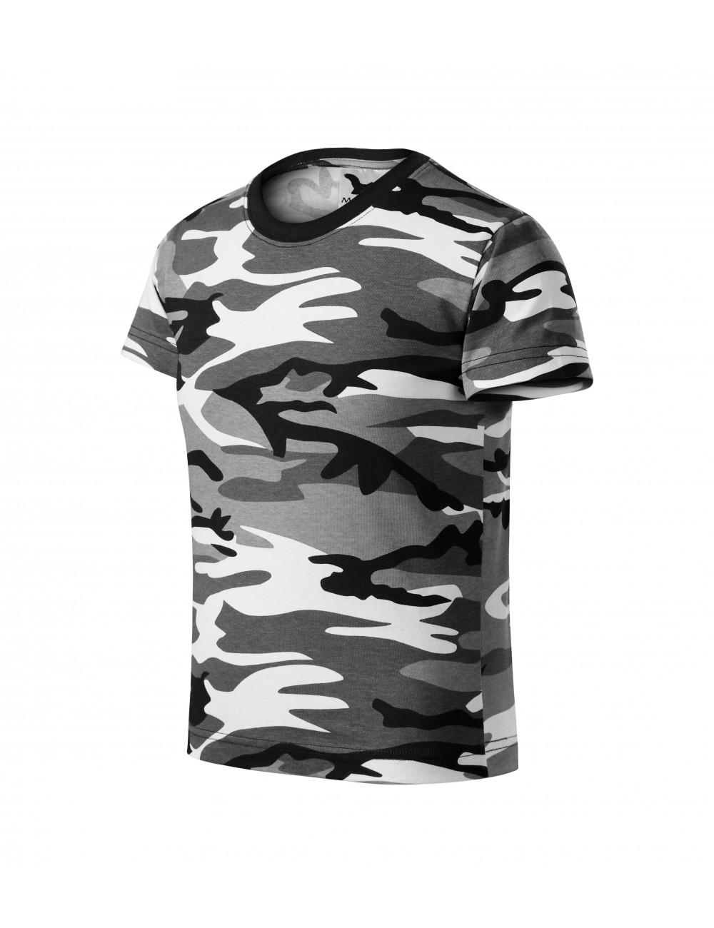 Adler MALFINI Koszulka dziecięca Camouflage 149 camouflage gray