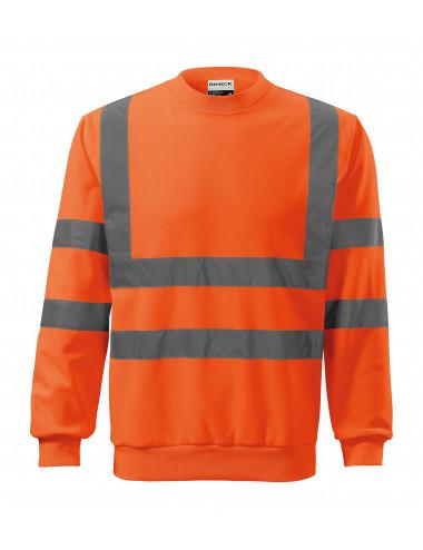 2Adler RIMECK Bluza unisex HV Essential 4V6 odblaskowo pomarańczowy