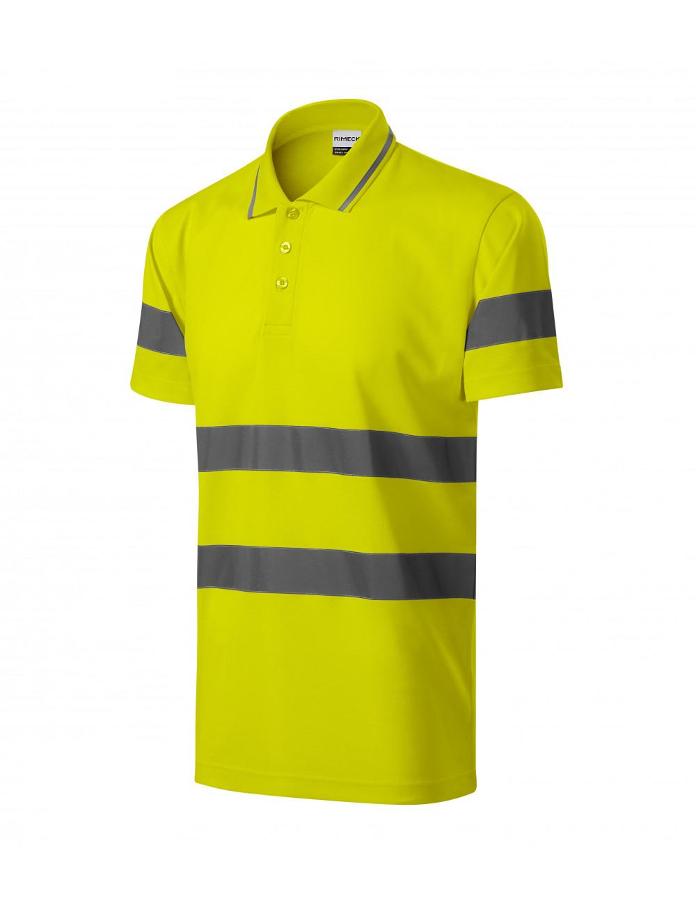 Adler RIMECK Koszulka polo unisex HV Runway 2V9 żółty odblaskowy