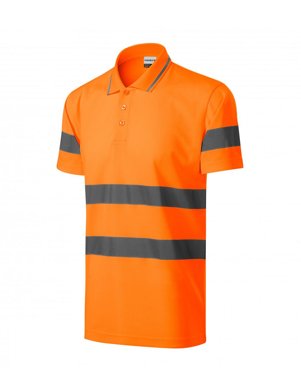 Adler RIMECK Koszulka polo unisex HV Runway 2V9 odblaskowo pomarańczowy