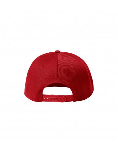 2Adler MALFINI Czapka unisex Rap 6P 302 czerwony