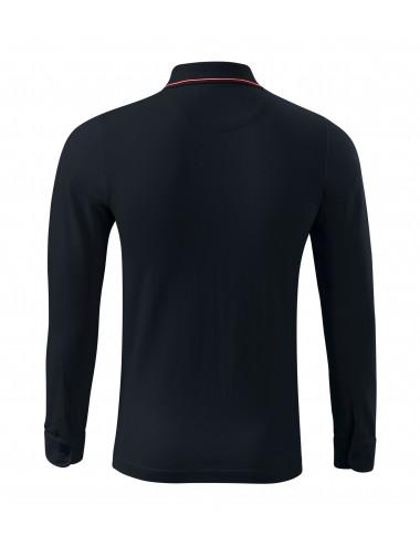 2Adler MALFINIPREMIUM Koszulka polo męska Contrast Stripe LS 258 dark navy