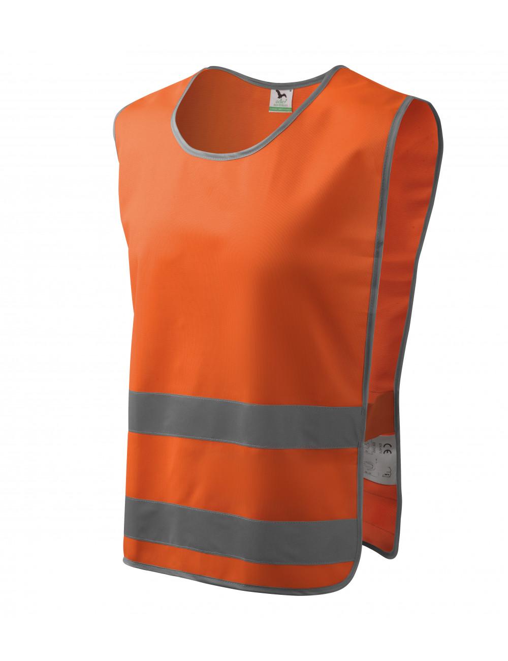 Adler RIMECK Kamizelka odblaskowa unisex Classic Safety Vest 910 odblaskowo pomarańczowy