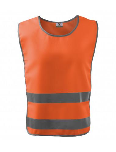 2Adler RIMECK Kamizelka odblaskowa unisex Classic Safety Vest 910 odblaskowo pomarańczowy