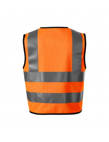 2Adler RIMECK Kamizelka odblaskowa dziecięca HV Bright 9V4 odblaskowo pomarańczowy