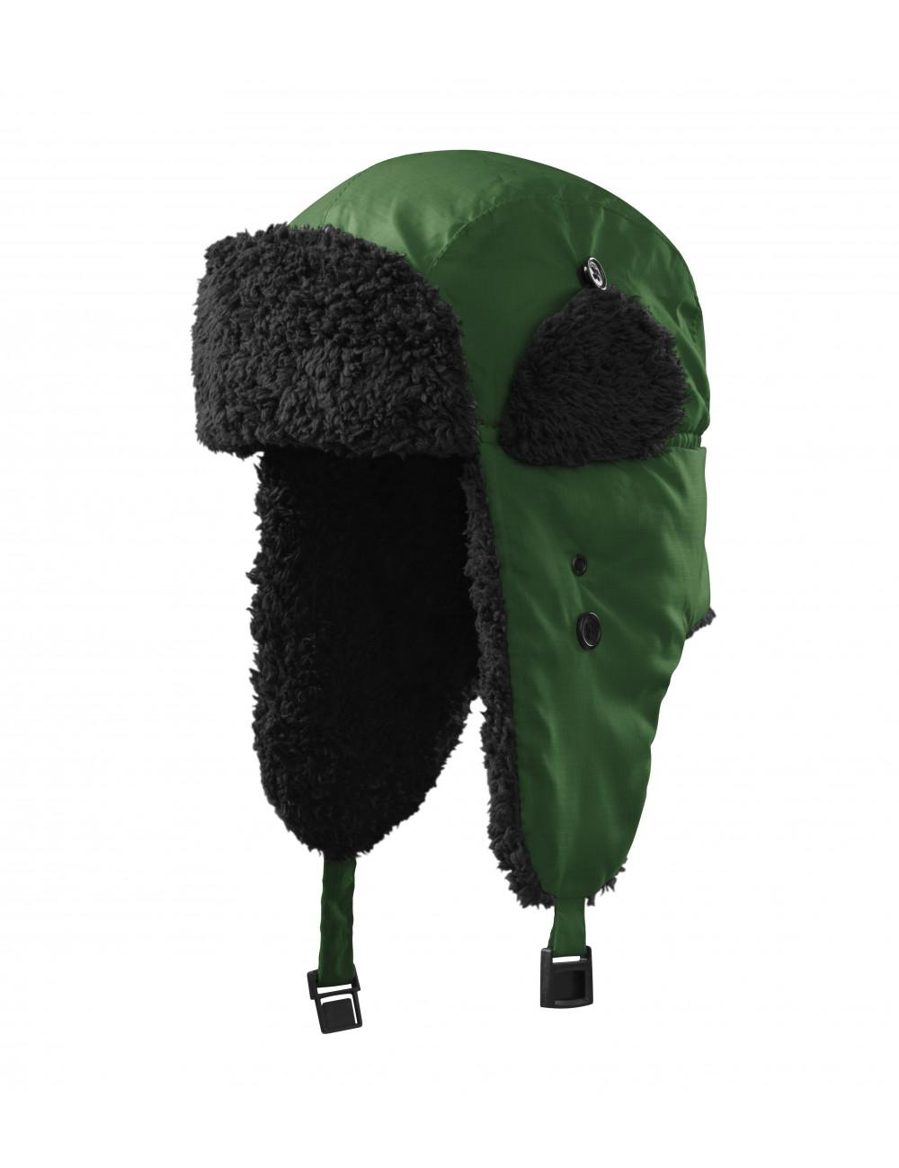 Adler MALFINI Czapka unisex Furry 326 zieleń butelkowa