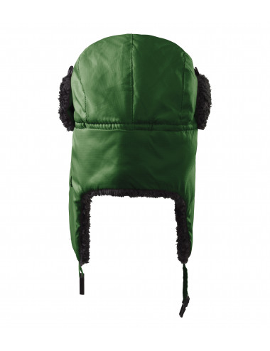 2Adler MALFINI Czapka unisex Furry 326 zieleń butelkowa