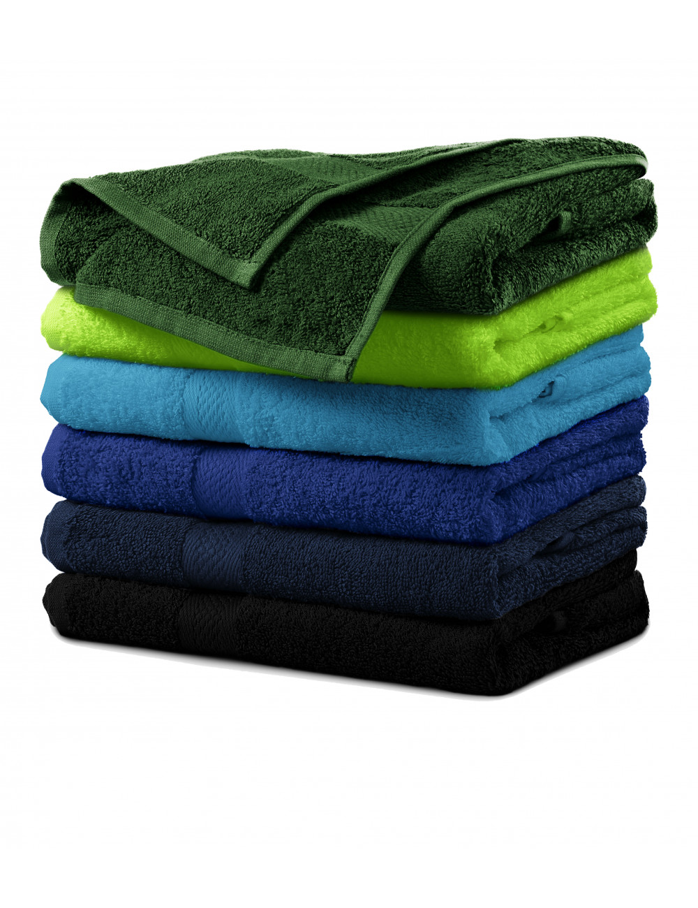 Adler MALFINI Ręcznik duży unisex Terry Bath Towel 905 czarny
