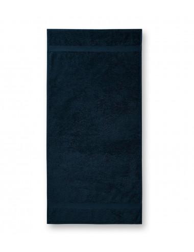 2Adler MALFINI Ręcznik duży unisex Terry Bath Towel 905 granatowy