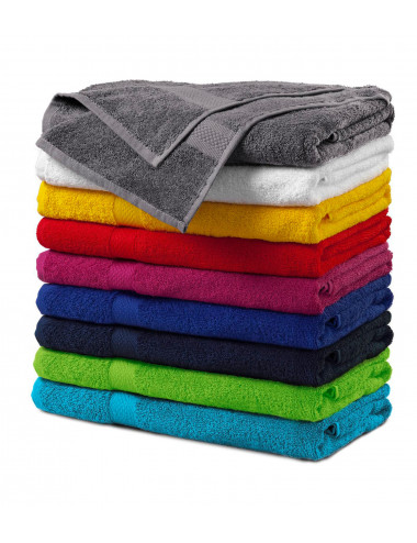 2Adler MALFINI Ręcznik duży unisex Terry Bath Towel 905 szaroczarny melanż