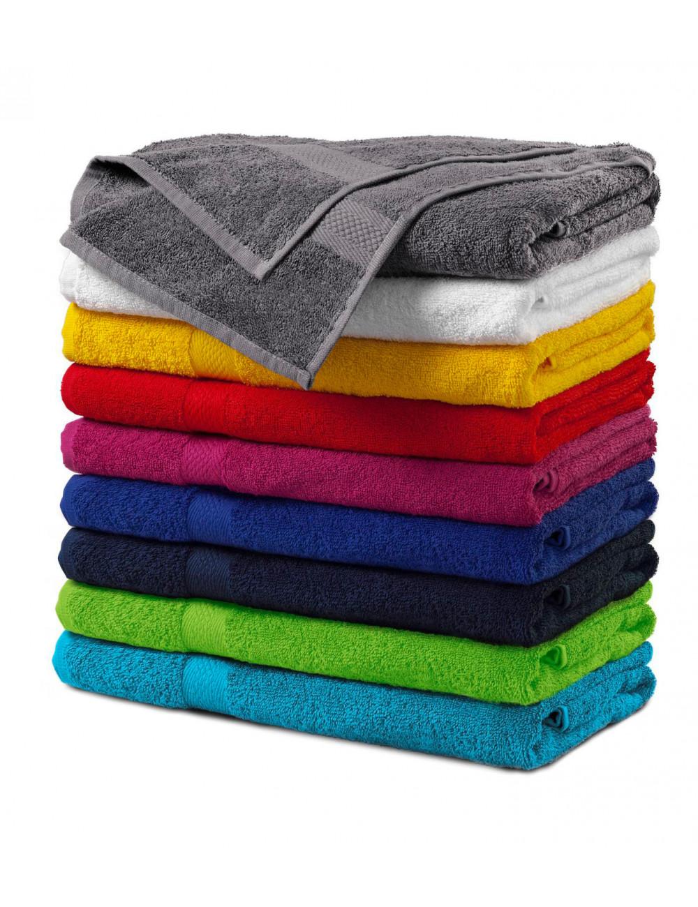 Adler MALFINI Ręcznik duży unisex Terry Bath Towel 905 szaroczarny melanż