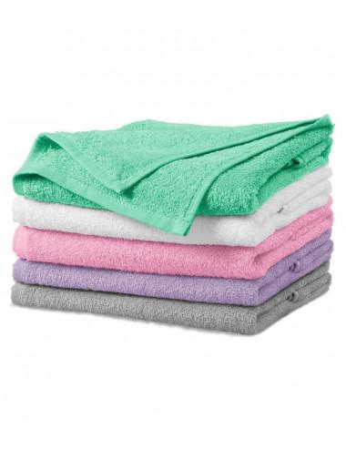 2Adler MALFINI Ręcznik duży unisex Terry Bath Towel 909 jasnoszary