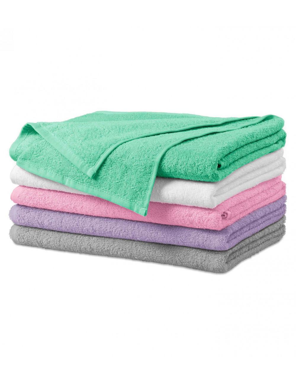 Adler MALFINI Ręcznik duży unisex Terry Bath Towel 909 różowy