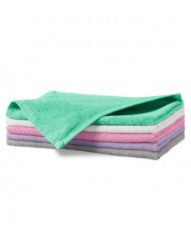 2Adler MALFINI Ręcznik mały unisex Terry Hand Towel 907 różowy