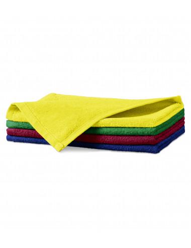 2Adler MALFINI Ręcznik mały unisex Terry Hand Towel 907 cytrynowy