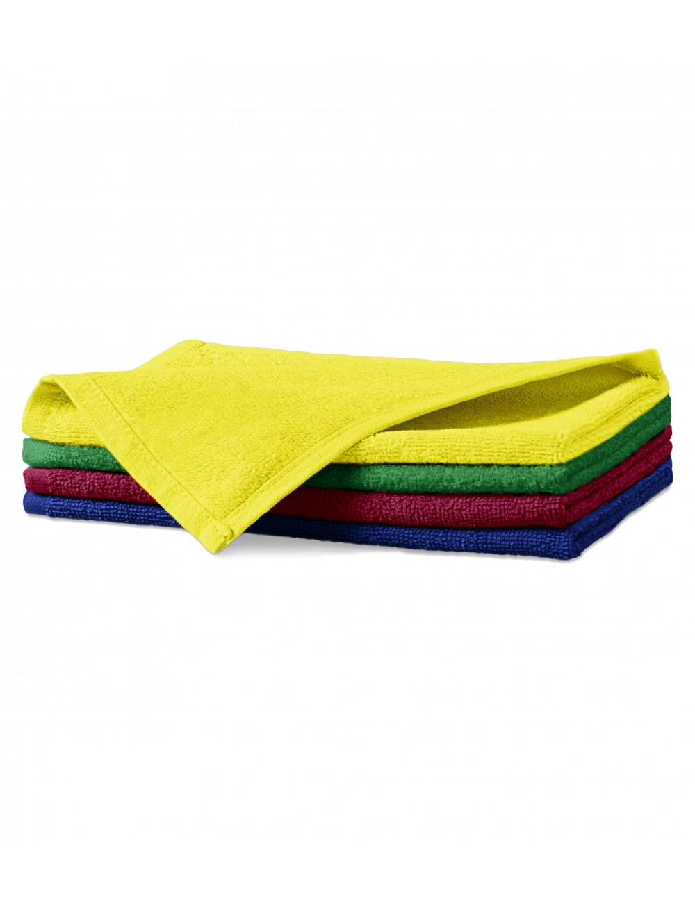 Adler MALFINI Ręcznik mały unisex Terry Hand Towel 907 cytrynowy