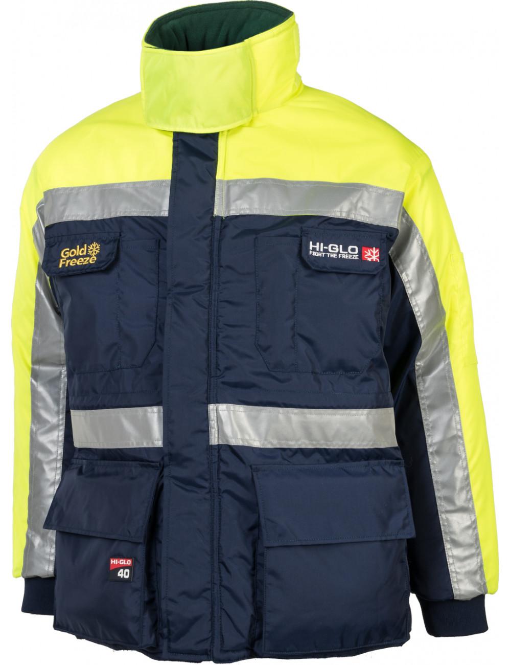 Kurtka Freezer Jacket Hi-Glo 40 do mroźni lub chłodni ochrona do -83,3°C
