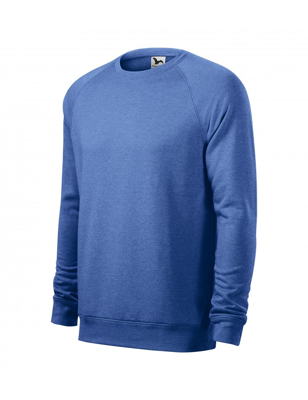 Adler MALFINI Bluza męska Merger 415 niebieski melanż
