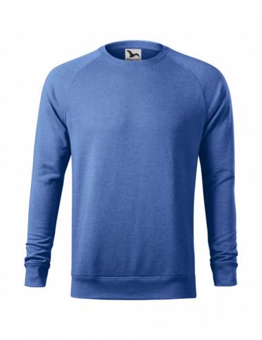 2Adler MALFINI Bluza męska Merger 415 niebieski melanż