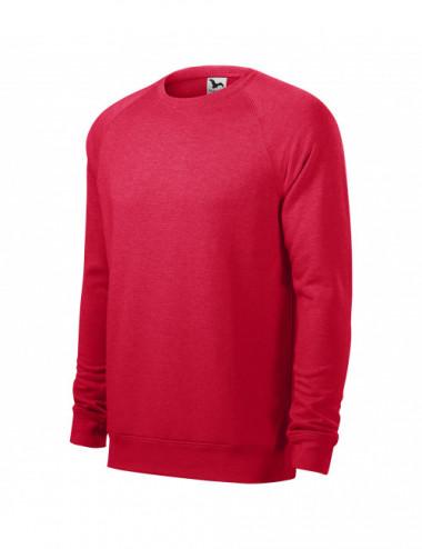 2Adler MALFINI Bluza męska Merger 415 czerwony melanż