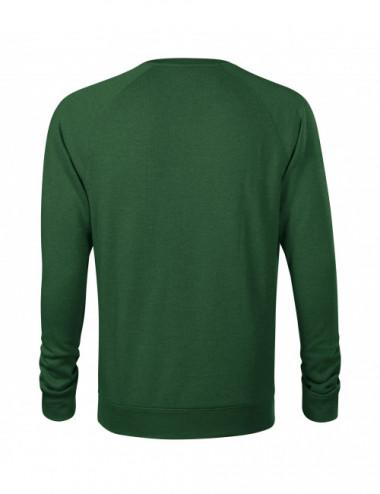 2Adler MALFINI Bluza męska Merger 415 zieleń bytelkowa melanż