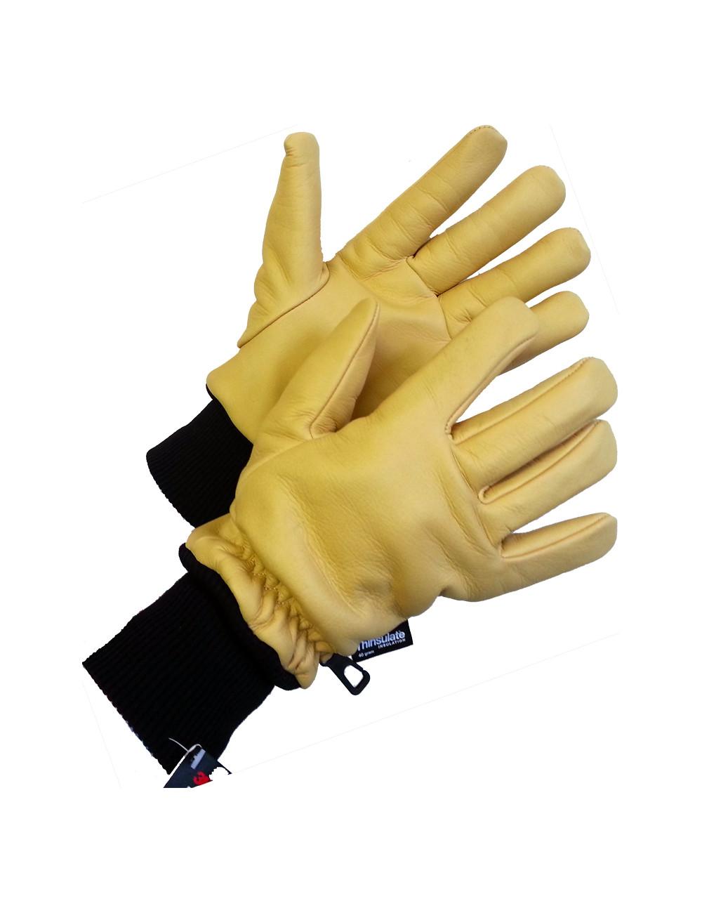 Rękawiczki Goldfreeze Order Picker Coldstore ze skóry bydlęcej