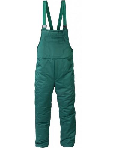 Spodnie ogrodniczki ocieplane przeznaczone do pracy w niskich temperaturach.