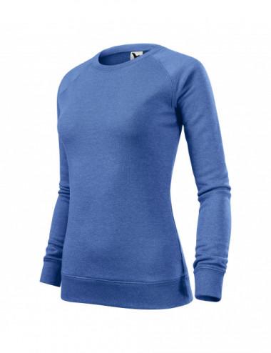 2Adler MALFINI Bluza damska Merger 416 niebieski melanż