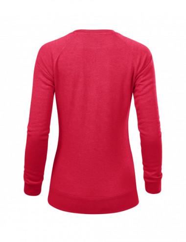 2Adler MALFINI Bluza damska Merger 416 czerwony melanż
