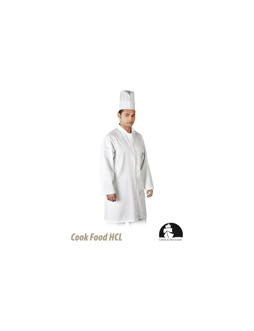 LEBER&HOLLMAN FARTUCH OCHRONNY MĘSKI LH-FOOD+CME W BIAŁY