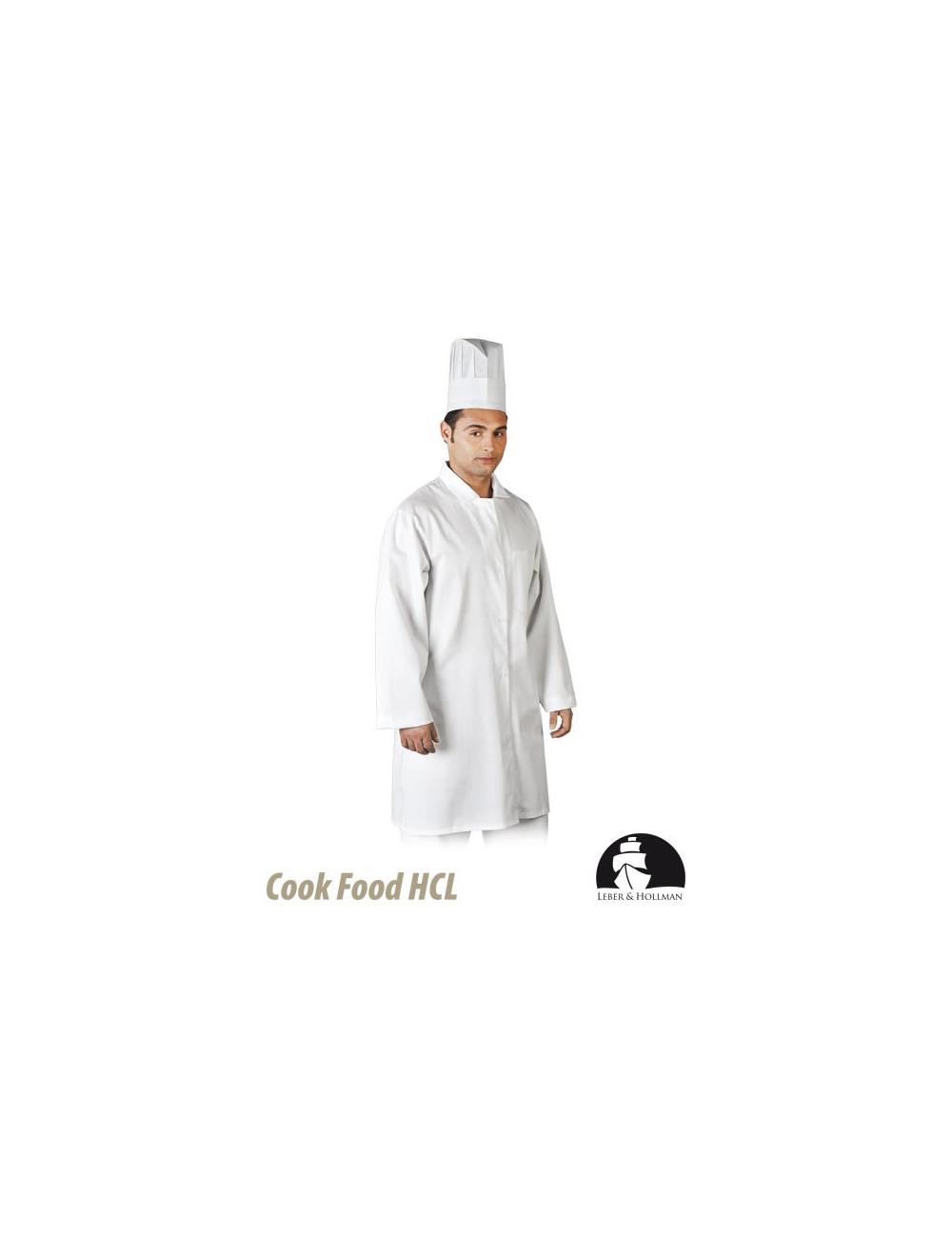 LEBER&HOLLMAN FARTUCH OCHRONNY MĘSKI LH-FOOD_CME W BIAŁY