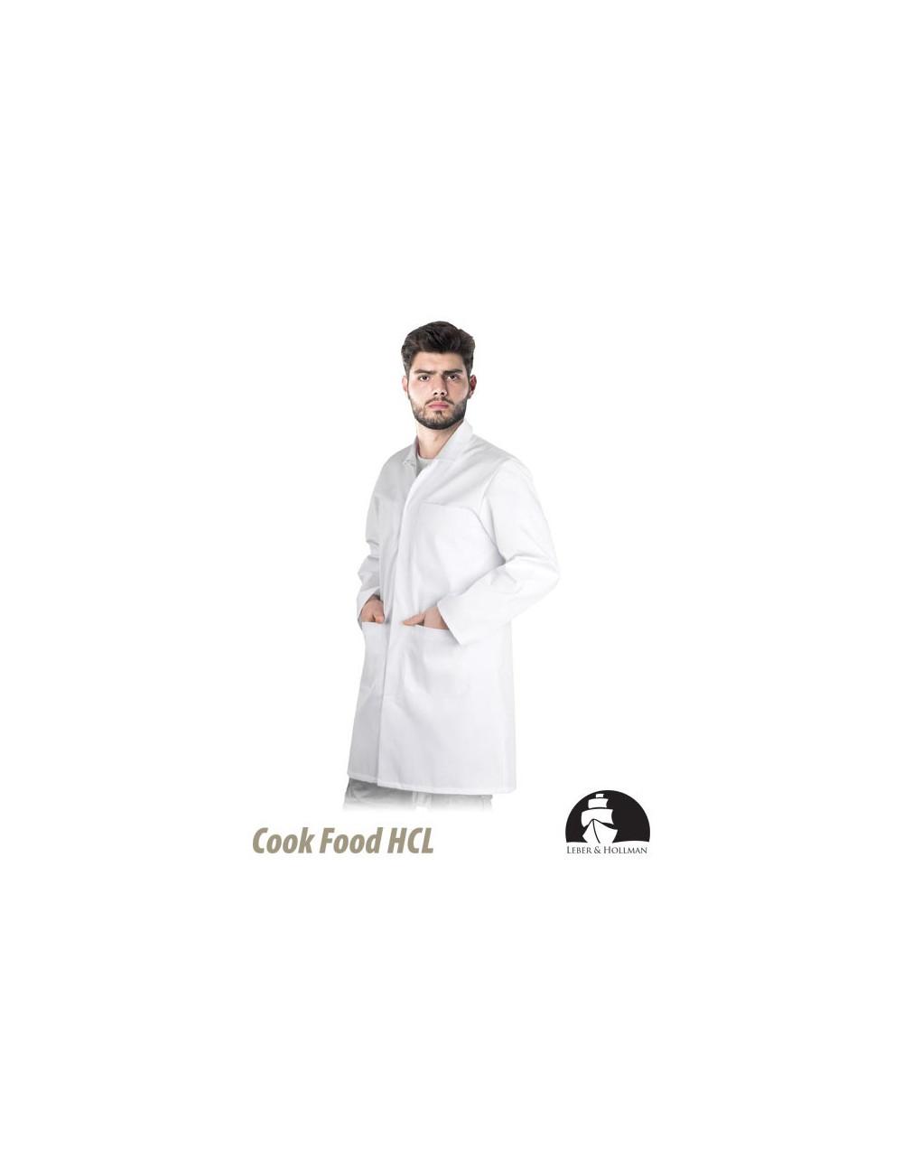 LEBER&HOLLMAN FARTUCH OCHRONNY MĘSKI LH-HCL_CME W BIAŁY