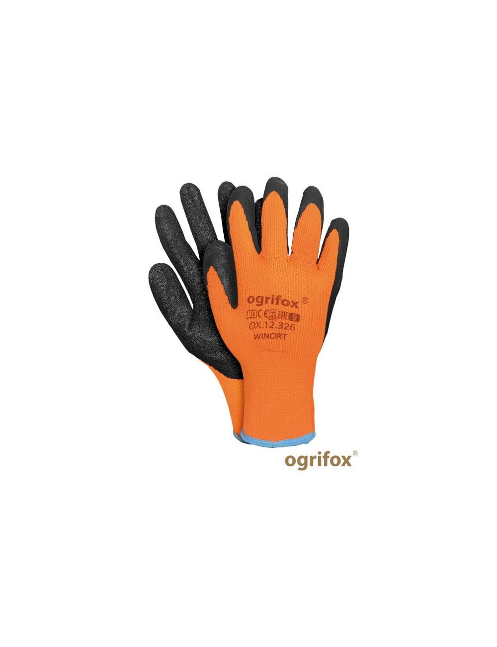 OGRIFOX RĘKAWICE OCHRONNE OX.12.326 WINORT OX-WINORT PB POMARAŃCZOWO-CZARNY