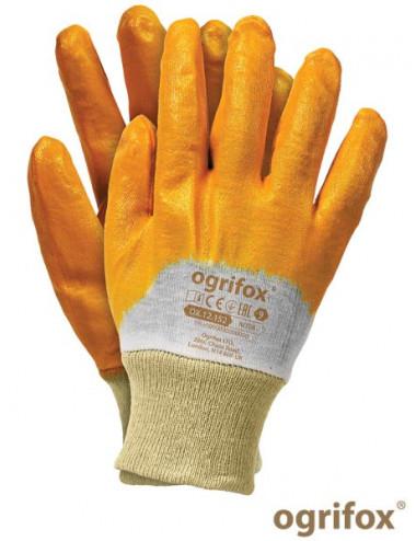 OGRIFOX RĘKAWICE OCHRONNE OX.12.152 NITER OX-NITER BEP BEŻOWO-POMARAŃCZOWY