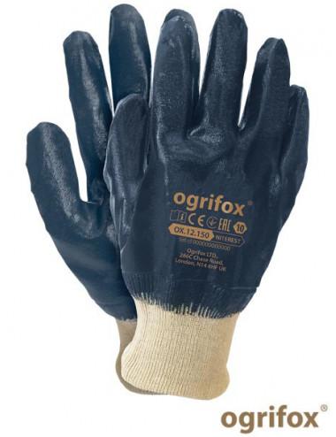 OGRIFOX RĘKAWICE OCHRONNE OX.12.150 NITEREST OX-NITEREST BEG BEŻOWO-GRANATOWY